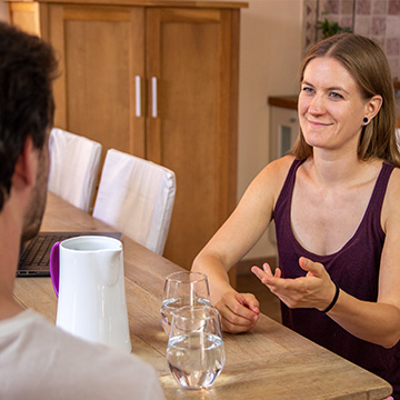 Vegane Ernährungsberatung Gespräch